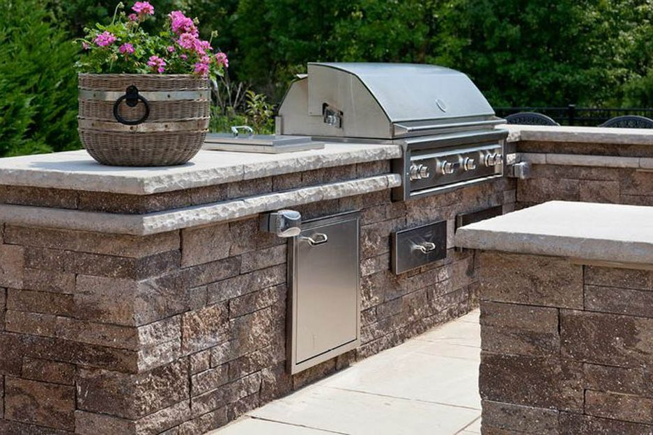 outdoor area kitchen