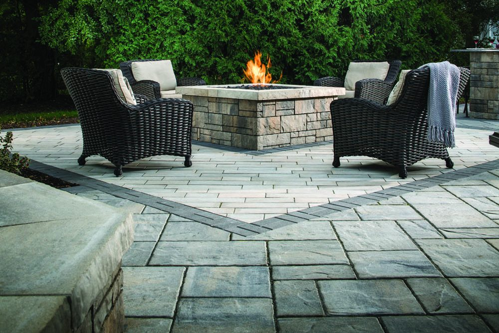 patio with pit