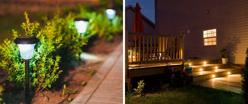 outdoor driveway patio lights benefits lighting landscape moline