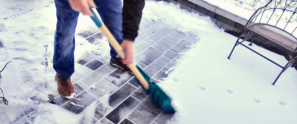 How To Care For Your Beautiful New Pavers In Winter photo