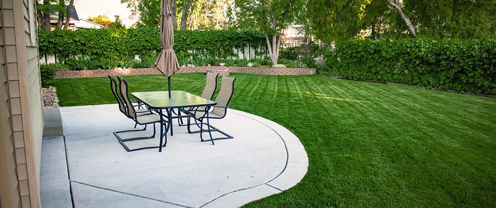 meyer landscape backyard features to add value patio manicured lawn