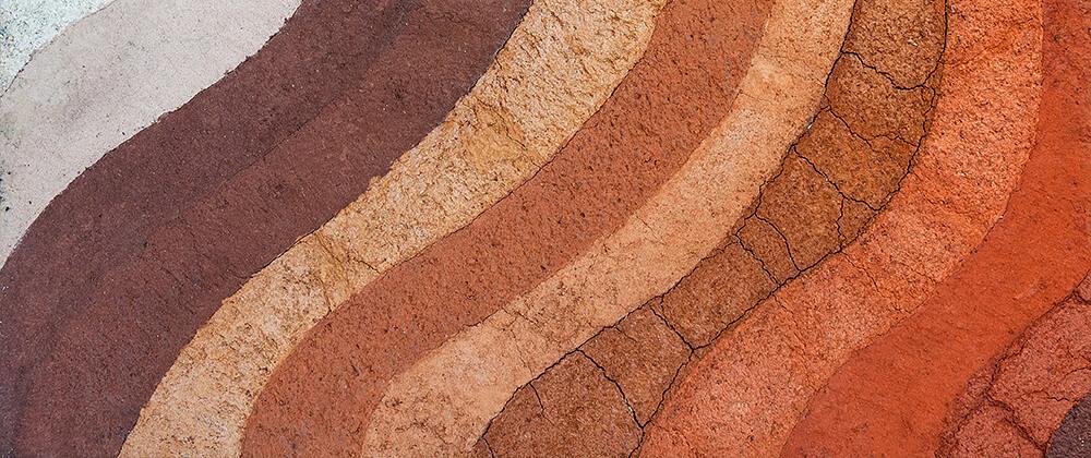 meyer landscape design understanding soil types colorful waves dirt